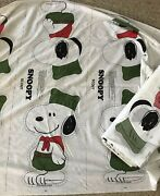 42 - Panels Vintage Snoopy Scout Pillow Cut And Sew Fabric