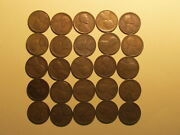 1/2 Roll 1923 S Lincoln Wheat Cents Penny Good Or Better Condition 25 Coins