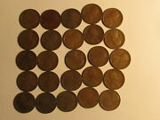 Roll 1917 S Lincoln Wheat Cents Penny Good Or Better Condition 50 Coins