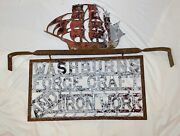 Antique Handmade Force Craft And Iron Work Wrought Nautical Trade Advertising Sign
