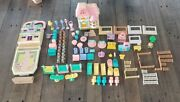 100+ Pc Vtg 90's Teddy's Wonderland Playsets Plastic Toy Bears Shop Candy Store