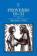 Proverbs 10-31 The Anchor Yale Bible Commentaries By Fox, Michael V. Hardc…