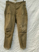 Former Japanese Army Cotton Trousers Pants Olive Green Military Antique Japan