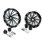 21 Front 18and039and039 Rear Wheel Rim W/ Hub Fit For Harley Touring Road Glide 2008-2021