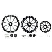 21 Front And 18and039and039 Rear Wheel Rims Dual Disc Hub Belt Pulley Fit For Touring 08-21
