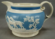 Chetham And Woolley Blue And White Sprigged Fix Kill Stoneware Jug C. 1793-1809 B