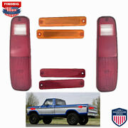 6pcs Tail Light And Side Fender Kit For Ford F-150 F150 F250 Truck Bronco 78-79