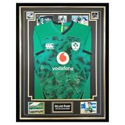 Signed Ireland Rugby Jersey - Framed Six Nations Shirt - 2021 +coa