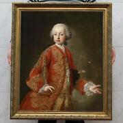 Hand-painted Old Master-art Antique Oil Painting Emperor On Canvas 30x40