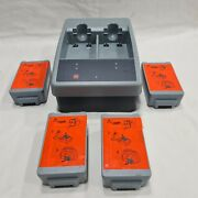 Physio-control Station Li-ion Charger With 4 Battery. Made In Usa