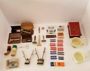 Vintage Shaving Collectible Lot, Razors, Blades, Brushes, Old Spice