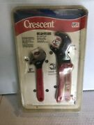 """Cresent Plier Set Usa 8"""" Adjustable Wrench And 10"""" Pump Pliers New"""