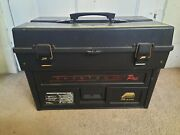 Vintage Tackle Box Plano Phantom Pro. Latch Top Four Trays And 40 Dividers
