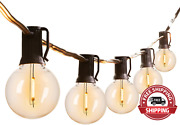 Led G40 Outdoor String Lights Patio Lights With 104 Led Shatterproof Bulbs, Weat