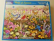 White Mountain Birds Of Summer Jigsaw Puzzle 550 Thicker Pieces Complete Rare