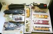 Bachmann Ho Guage Electric Train Set - Engine Cars Power Pack Track Signs