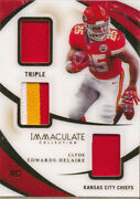 2020 Immaculate Collection Immaculate Triple Jersey 11 Clyde Edwards-helaire/49