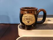 Antique Archaeology Brown/brown Ceramic Mug/cup. American Pickers 4 X 6.