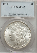 1899 Morgan Pcgs Ms62 Nice White Luster And Reflective Fields