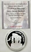 1oz 2021 Silver Shield Proof Silver Backed Coin 4 World War Meme Series