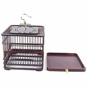 Large Bird Cage Play House Parrot Finch Cage Macaw Cockatoo Wooden Pet Supply Us