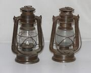 Antique 2 Pc Iron Lantern Lamp Model No. 275 Made In Germany Collectible 12103