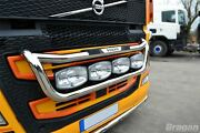To Fit 13+ Volvo Fh4 Steel Grill Bar C + Jumbo Led Spots + Step Pad + Side Led