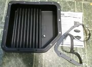 Derale 14200 Th350 Turbo 350 Gmc Chevy Transmission Oil Pan Cooler 3 Deep +2qts