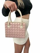 Authentic Vintage Coco Mark Logo Square Puzzle Bag Pink Ivory Rankb