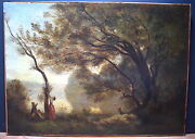Landscape After Camille Corot Souvenir Of Mortefontaine Xix Anddeg