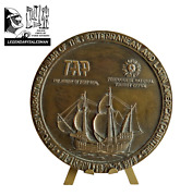 Tourist Fair Of The Mediterranean And Latin American Bronze Medal Antique