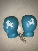 Vintage Soft Rubber Squeaky Baby Boy Boxing Gloves Toy