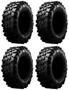 Full Set Of Maxxis Carnivore Radial 8ply Atv Tires 31x10-15 4