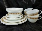 Vtg Corelle By Corning 4 Place Setting 24 Pc With Pyrex Coffee Cups Butterfly