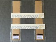 Mitsubishi Genuine Evolution V Silver And Yellow Rear Door Decals Stickers