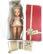 Vintage 1950and039s Terri Lee Doll 16 W/box Tags And Extra Clothes - Blonde