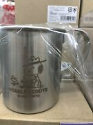 Peanuts Stainless Mug Cup 300ml Beagle Scout Spv-442 Snoopy Japan