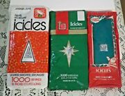 Vintage Christmas Tree Icicles 3 Pkgs Brite Star Usa Tinsel Icicle Decorations