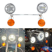 Cnc Motorcycle Passing Fog Spot Light Turn Signal Light Bar For Harley Scooter
