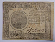 1778 United States 7 Continental Currency Vf