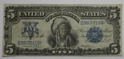 1899 5 Indian Chief Silver Certificate Vf