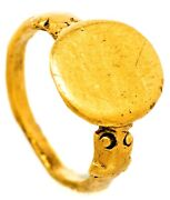Ancient Roman, Ca. 4th Century Ad, Solid 22k Gold Ring