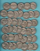 1950 P Jefferson Nickel 40 Coin Circulated Roll