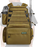 Rodeel Fishing Tackle Backpack 2 Fishing Rod Holders Without 4 Tackle Boxes