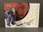 2002-03 Upper Deck Mvp Pro-sign Tommy Salo Mf Auto Hockey Card Nhl Oilers