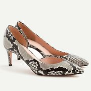 J Crew Nwb 228 Lucie Dandrsquoorsay Pumps In Snake-embossed Leather   Sz 6.5   Italy