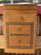 El Producto Queens Wood Cigar Tounge And Groove Box