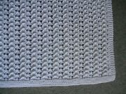 New Exquisite Handmade White Knit Baby Afghan Christening / Shower Gift 42x49