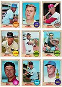 1968 Topps 1-109 Set Break You Pick Conditions Listed