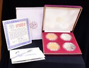 4 Coin America In Space Limited Edition Set W/ Coas And Display Box